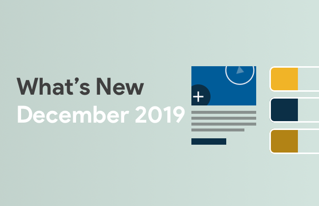 What's New: December 2019